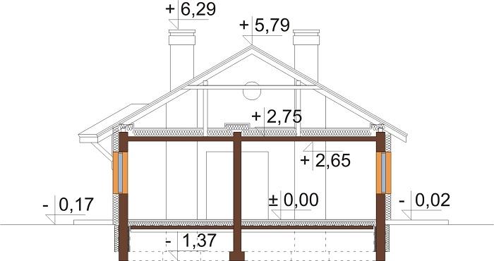 Projekt domu DM-6299 - przekrój
