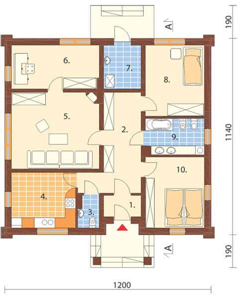 Projekt domu DM-6301 - rzut