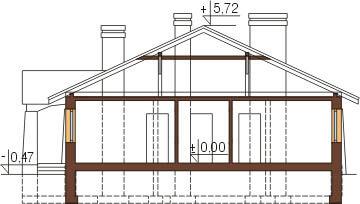 Projekt domu DM-6301 - przekrój