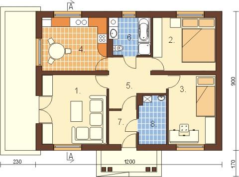 Projekt domu DM-6302 - rzut