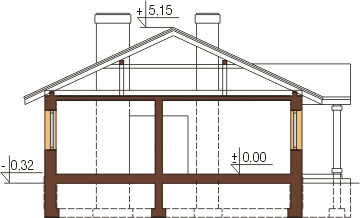 Projekt domu DM-6302 - przekrój