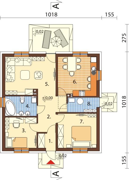 Projekt domu DM-6305 - rzut