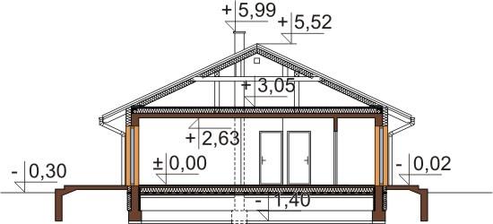 Projekt domu DM-6305 - przekrój