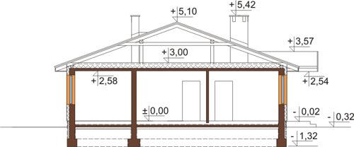 Projekt domu DM-6308 - przekrój