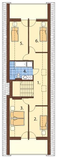 Projekt domu DM-6310 - rzut