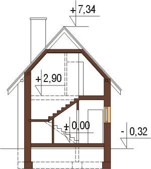 Projekt domu DM-6310 - przekrój
