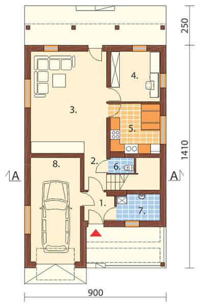 Projekt domu DM-6311 - rzut