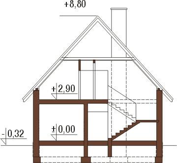 Projekt domu DM-6311 - przekrój