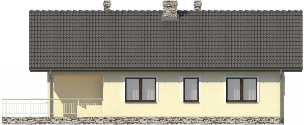 Projekt domu DM-6319 - elewacja