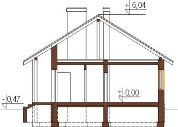 Projekt domu DM-6319 - przekrój
