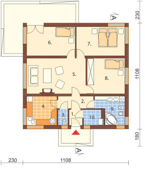 Projekt domu DM-6322 - rzut