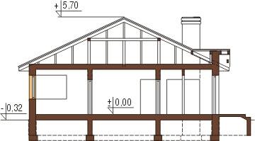 Projekt domu DM-6322 - przekrój