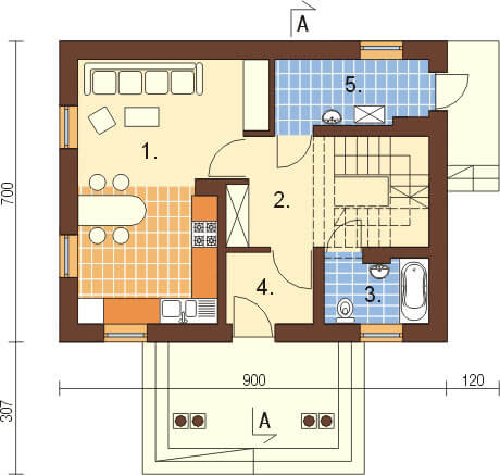 Projekt domu L-6268 - rzut