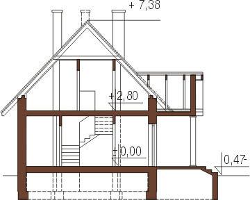 Projekt domu L-6268 - przekrój