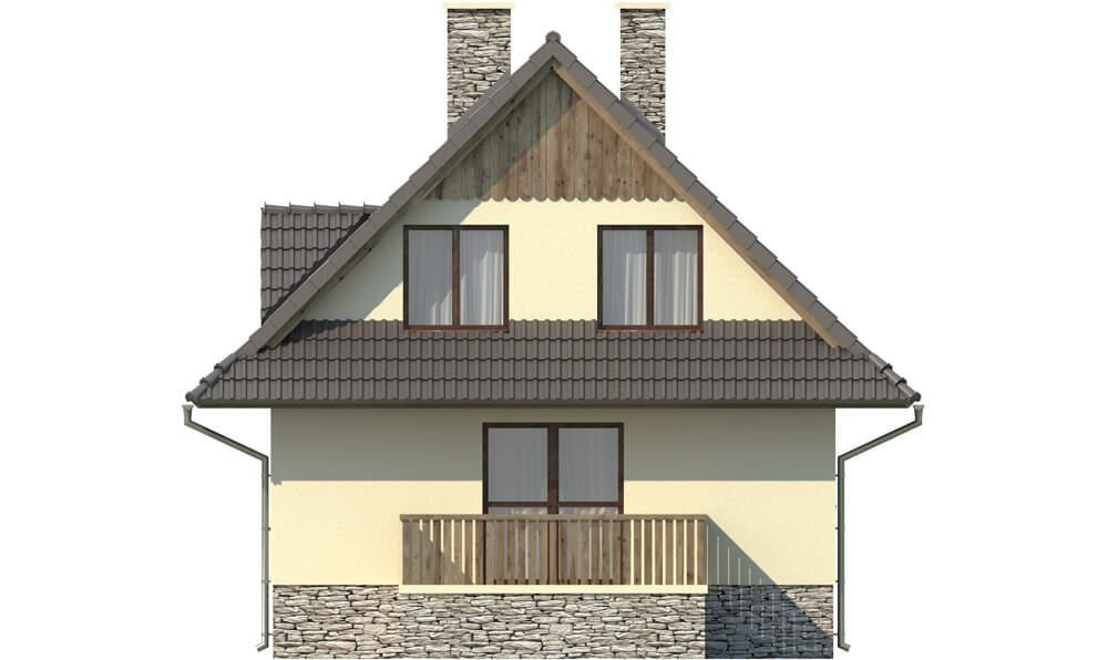 Projekt domu DM-6077 - elewacja