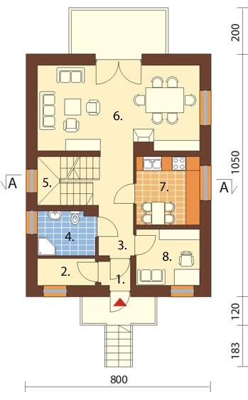 Projekt domu DM-6077 - rzut
