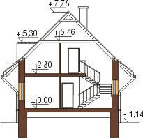 Projekt domu DM-6077 - przekrój