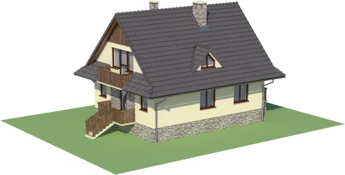 Projekt domu DM-6077 - model