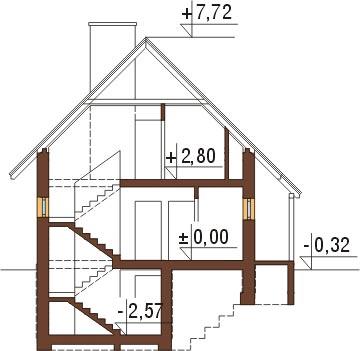 Projekt domu L-6294 - przekrój