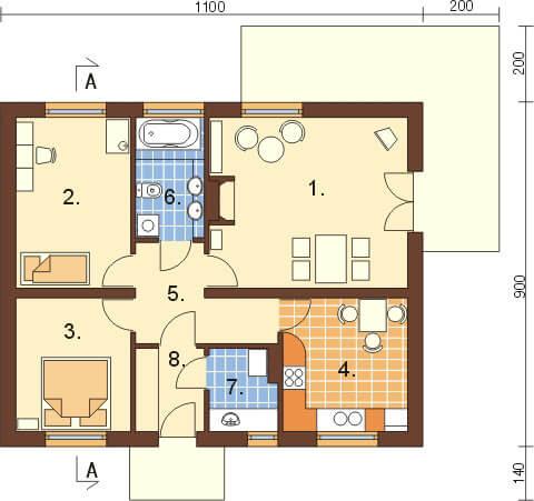 Projekt domu L-6299 - rzut