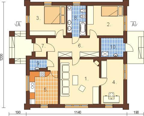 Projekt domu L-6301 - rzut