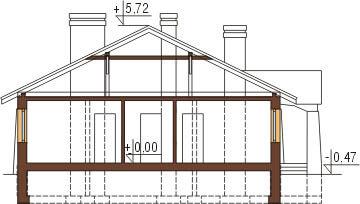 Projekt domu L-6301 - przekrój
