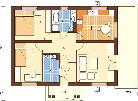 Projekt domu L-6302 - rzut