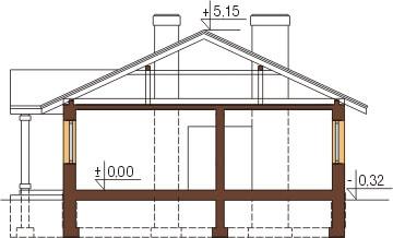 Projekt domu L-6302 - przekrój