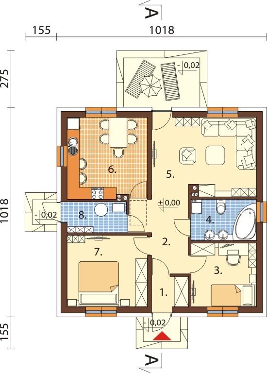 Projekt domu L-6305 - rzut