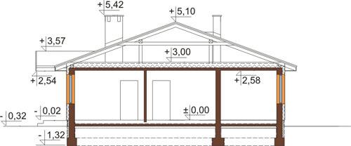 Projekt domu L-6308 - przekrój