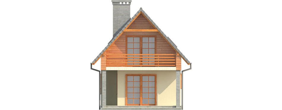 Projekt domu L-6310 - elewacja