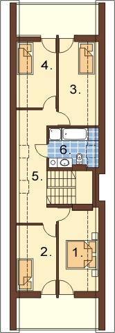 Projekt domu L-6310 - rzut