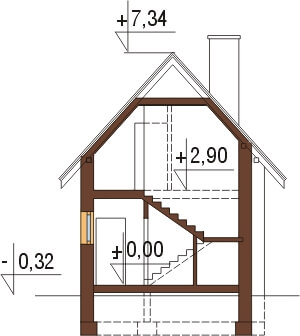 Projekt domu L-6310 - przekrój
