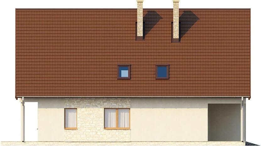 Projekt domu L-6311 - elewacja