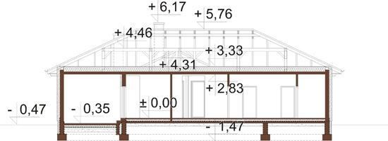 Projekt domu DM-6079 - przekrój