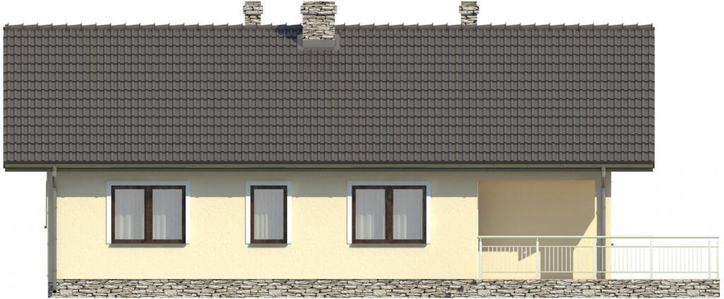 Projekt domu L-6319 - elewacja