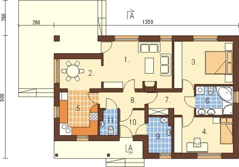 Projekt domu L-6319 - rzut