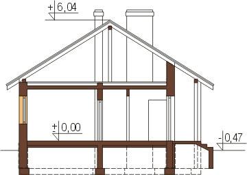 Projekt domu L-6319 - przekrój