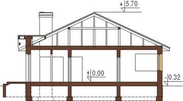 Projekt domu L-6322 - przekrój