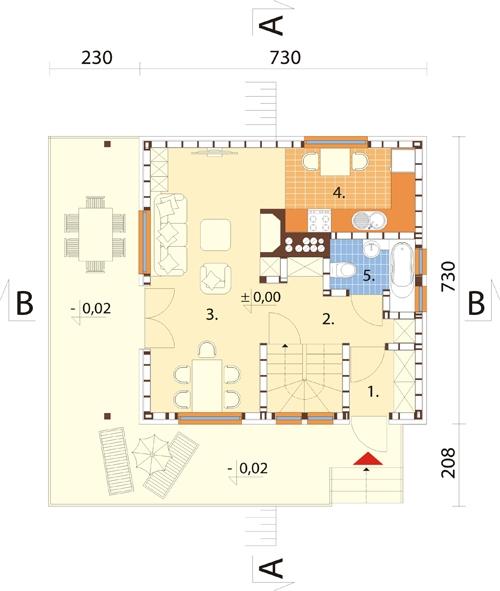 Projekt domu DM-6324 - rzut