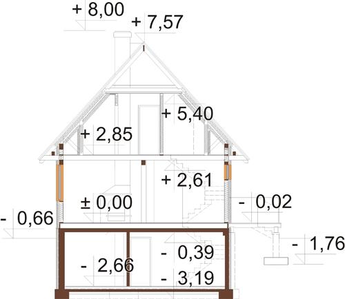 Projekt domu DM-6324 - przekrój