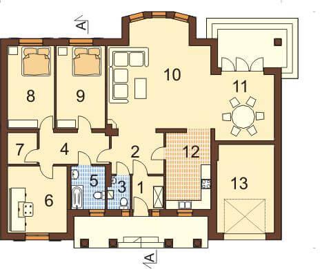 Projekt domu DM-6326 - rzut