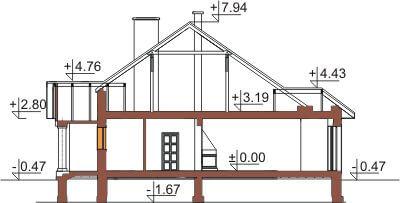 Projekt domu DM-6326 - przekrój