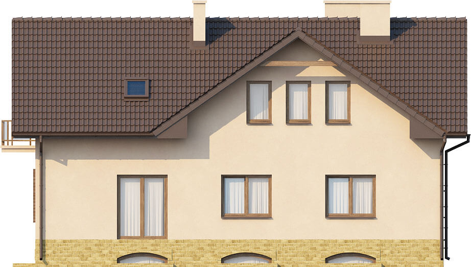 Projekt domu DM-6327 - elewacja