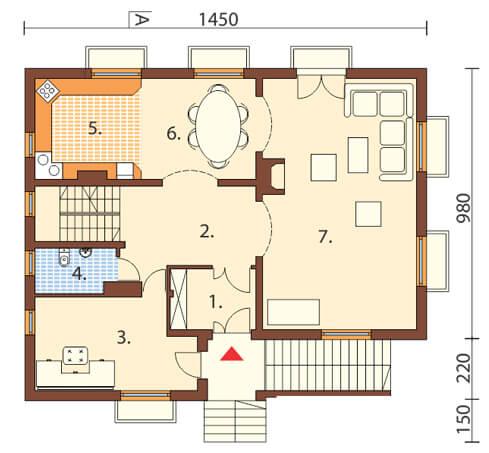 Projekt domu DM-6327 - rzut