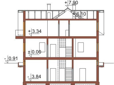 Projekt domu DM-6327 - przekrój