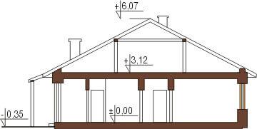 Projekt domu DM-5518 - przekrój