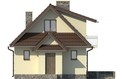Projekt domu DM-6080 - elewacja