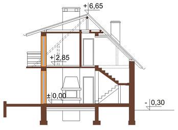 Projekt domu DM-6080 - przekrój