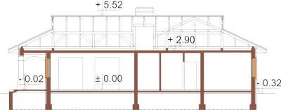 Projekt domu DM-6331 - przekrój